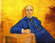 Author photo. Painting by Harald Brun (1873-1927)