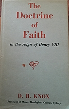 The doctrine of faith in the reign of Henry…