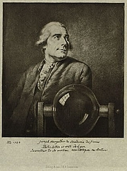 Author photo. Half-length portrait of French balloonist Joseph Montgolfier, with a glass chamber related to his experiments with gas for balloon flight: Library of Congress Prints and Photographs Division (REPRODUCTION NUMBER:  LC-DIG-ppmsca-02261)