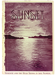 Author photo. Sunset magazine cover, Volume One, Number One, May 1898