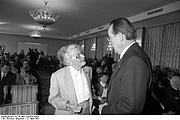 Author photo. Wikipedia, Elisabeth Noelle-Neumann with Otto Schlecht