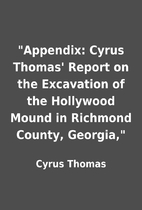 Appendix: Cyrus Thomas' Report on the…