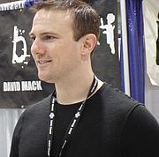 Author photo. David W. Mack, Exhibit Hall, San Diego Comic-Con 2007, by Lampbane
