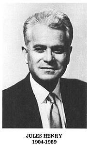 Author photo. Jules Henry (1904-1969)