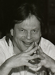 Author photo. Sweden, March 1985,<br> promoting 'Brazi&quot;<br> (Credit: wikipedia user Towpilot)