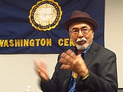 Author photo. Juan Felipe Herrera at the University of California, Washington Center, April 24, By Danvera - Own work, CC BY-SA 4.0, <a href=&quot;//commons.wikimedia.org/w/index.php?curid=58318311&quot; rel=&quot;nofollow&quot; target=&quot;_top&quot;>https://commons.wikimedia.org/w/index.php?curid=58318311</a>