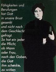 Author photo. Memorial tablet for Regina Jonas, first woman rabbi ever. Berlin, Krausnickstr. No. 6. Detail