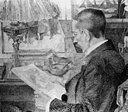 Author photo. Painting by Jan Toorop (1900)