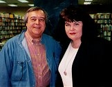 Author photo. Dewey Lambdin with Sharyn McCrumb in Nashville