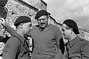 Author photo. Ilya Ehrenburg (left) and Gustav Regler (right) with Ernest Hemingway in Spain, 1937: Ernest Hemingway Photograph Collection, John F. Kennedy Presidential Library and Museum (jfklibrary.org)