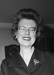 Author photo. Ebba Haslund<br>Photo: Rigmor Dahl Delphin (1908–1993)