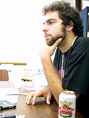Author photo. Self-portrait of Daniel Galera, Brazilian writer and translator.