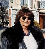 Author photo. Sylviane Agacinski le 21 février 2018 en visite à Forcalquier (avec Lionel Jospin) pour le journal la Provence