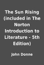 The Sun Rising (included in The Norton…