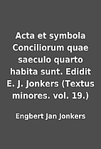 Acta et symbola Conciliorum quae saeculo…