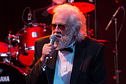 Author photo. Ronnie Hawkins performing at the Hamilton Festival of Friends at the Ancaster Fairgrounds / Photo by Tabercil