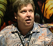 Author photo. DC Comics booth, San Diego Comic-Con 2007, by Lampbane