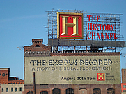 Author photo. History Channel billboard in Manhattan, August 2006, photo by Fergal Carr