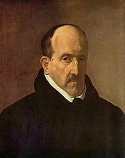 Author photo. Painting by Velazquez