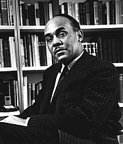 """Author photo. From <a href=""""http://en.wikipedia.org/wiki/Image:Ralph_Ellison_photo_portrait_seated.jpg"""">Wikipedia</a>"""