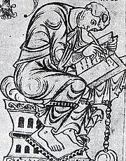 Author photo. Paulus Orosius / Shown in a miniature from the Saint-Epure codex.