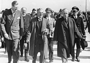 Author photo. Karl Fiehler (second row, bright uniform, between Neville Chamberlain and Joachim von Ribbentrop) at the Munich Agreement 1938