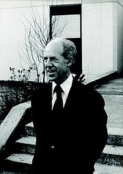 Author photo. Gérard Debreu. Photo by Konrad Jacobs.
