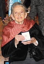 Author photo. Teresa Castelló Yturbide (1917-2015) La Señora Teresa Castelló Yturbide durante la entrega de la Medalla UNESCO Marie Curie, octubre 2014