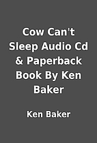Cow Can't Sleep Audio Cd & Paperback Book By…