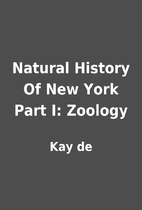 Natural History Of New York Part I: Zoology…