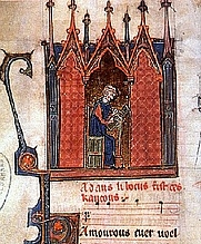 Author photo. Adam de la Halle. Miniature in musical codex. By Unknown - <a href=&quot;http://picsdigger.com/image/cfd4783c/&quot; rel=&quot;nofollow&quot; target=&quot;_top&quot;>http://picsdigger.com/image/cfd4783c/</a>, CC BY 3.0, <a href=&quot;https://commons.wikimedia.org/w/index.php?curid=11282545&quot; rel=&quot;nofollow&quot; target=&quot;_top&quot;>https://commons.wikimedia.org/w/index.php?curid=11282545</a>