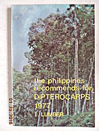 The Philippines Recommends for Dipterocarps…