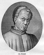 Author photo. Giovanni Francesco Poggio Bracciolini