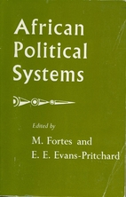 African Political Systems by Meyer Fortes