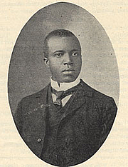 Author photo. [Portrait of Scott Joplin], taken from <i>American Musician</i> (June 17, 1907). Performing Arts Reading Room, Library of Congress. (<a href=&quot;http://memory.loc.gov/ammem/index.html&quot;>memory.loc.gov</a>)