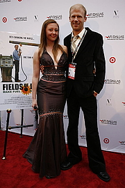 Author photo. Josh and Rebecca Tickell on the red carpet at the AFI Dallas Film Festival, 16 March 2008