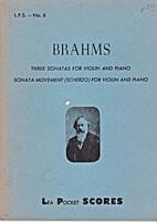 Three sonatas for violin and piano ; Sonata…