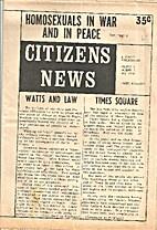 Citizens News (Volume V, Number 5)…