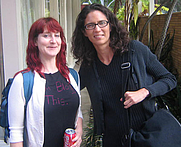 Author photo. Carolyn Kellogg and Nina Revoyr (right)<br> at 2007 LA Times Festival of Books<br>  Copyright © 2007 <a href=&quot;http://ronhogan.tumblr.com&quot;>Ron Hogan</a>