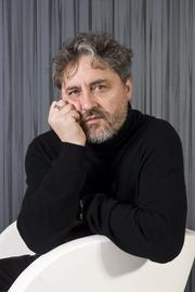 Author photo. Manuel Rivas. Photo by Santos-Díez (Ollo de Vidro-ACAB).