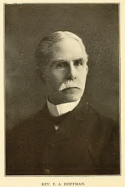 Author photo. Elisha A. Hoffman. Portrait from page 162 of Biography of Gospel song and hymn writers (1914) by Jacob Henry Hall