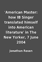 'American Master: how IB Singer translated…