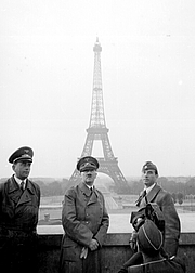 Author photo. Left to right: Albert Speer, Adolf Hitler and Arno Breker in Paris, June 23, 1940. National Archives and Records Administration, Heinrich Hoffmann Collection