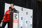 """Author photo. Librarian of Congress Carla Hayden introduces Markus Zusak on the Teen Stage at the National Book Festival, August 31, 2019. Photo by David Rice/Library of Congress. By Library of Congress Life - 20190831DR0578.jpg, CC0, <a href=""""https://commons.wikimedia.org/w/index.php?curid=82899292"""" rel=""""nofollow"""" target=""""_top"""">https://commons.wikimedia.org/w/index.php?curid=82899292</a>"""