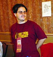 Author photo. Small Press Expo 2002, photo by Lampbane