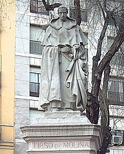 Author photo. Monument to Tirso de Molina, Madrid, Spain.  Photo by Luis García / Flickr.