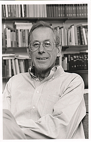 Author photo. Phillip James Peebles, Professor of Physics, Princeton University. Photo by Robert P. Matthews, 1995 (photo courtesy of Princeton University)