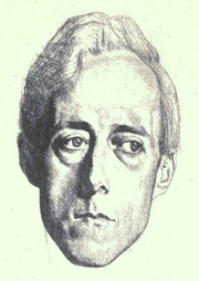 Author photo. Image from <b><i>The four years, war poems collected and newly augmented</i></b> (1919) by Laurence Binyon