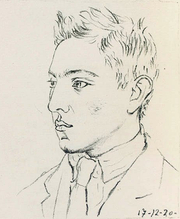 Author photo. wikimedia commons - Radiguet at 17. Portrait by Picasso