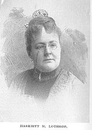 Author photo. Harriett Mulford (Stone) Lothrop [pen-name Margaret Sidney] (b.1844), Buffalo Electrotype and Engraving Co., Buffalo, N.Y.